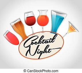 cóctel, noche