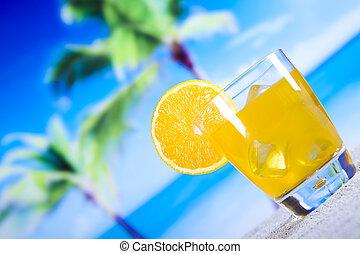 cócteles, alcohol, bebidas, conjunto, natural, colorido, tono