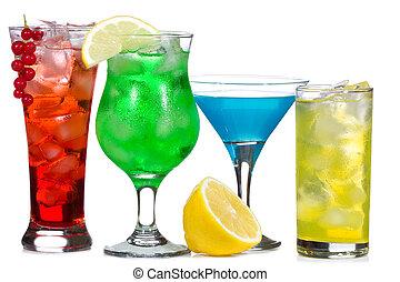 cócteles, bayas, alcohol, fruits