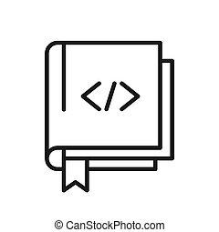 código, aprendizagem, ilustração, desenho