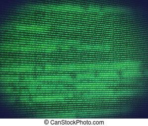 código binário, abstratos, verde, digital, tela