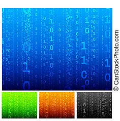 código, binario, plano de fondo