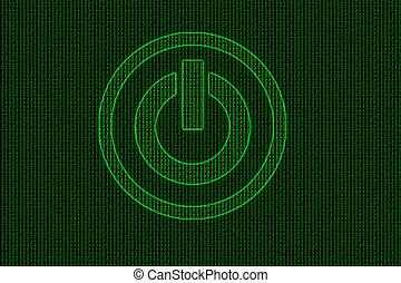 código binario, potencia, resumen, tema, plano de fondo, butt, tecnología
