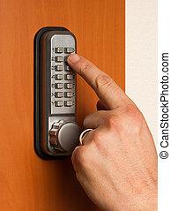 código, doorlock, tecla
