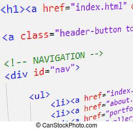 código, html, css