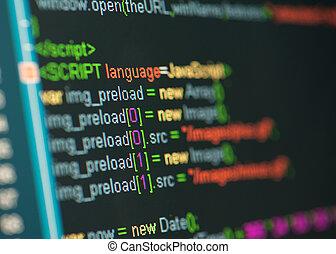 código, html