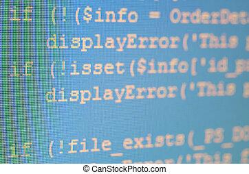código, monitor, php