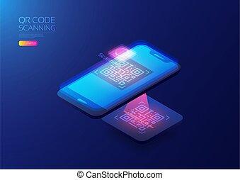 código, qr, scanner