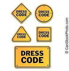 código, vestido, señales