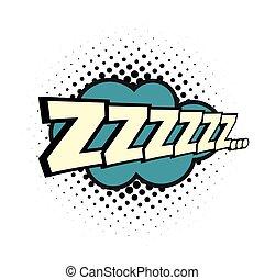 cómico, palabra, zzz