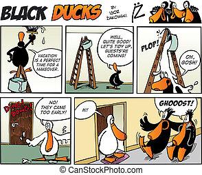 cómicos, 73, patos, episode, negro