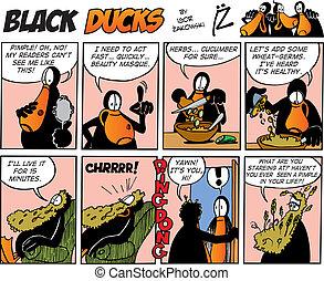 cómicos, negro, episode, 37, patos