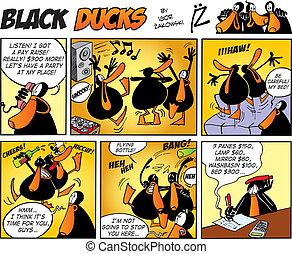 cómicos, negro, patos, episode, 47