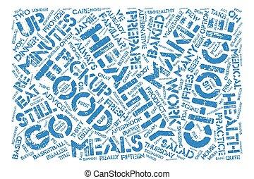 cómo, hacer, alimento sano, elecciones, texto, plano de fondo, palabra, nube, concepto