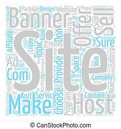 cómo, hacer, dinero, de, su, sitio web, texto, plano de...