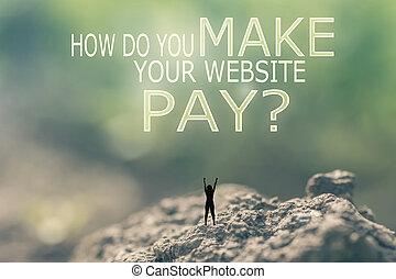 cómo, haga, usted, marca, su, sitio web, pay?