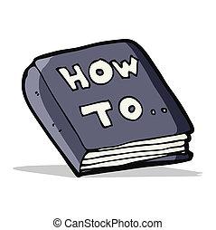cómo, libro, caricatura
