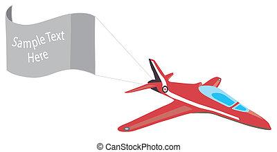 cópia, avião, bandeira, espaço