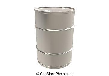 cópia, barril metal, espaço