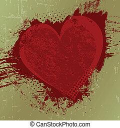 cópia, dia valentine, fundo, espaço