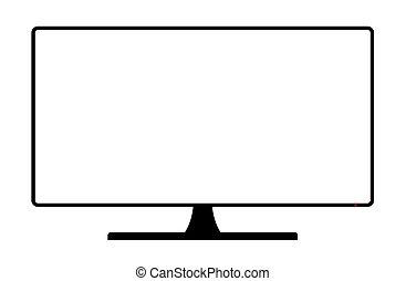 cópia, monitor computador, espaço