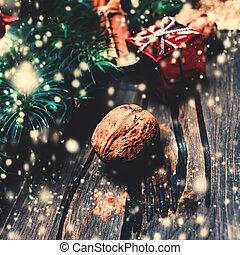 cópia, Natal, fundo, espaço