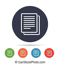 cópia, símbolo., sinal, duplicata, arquivo, icon., documento