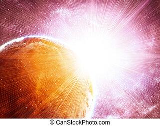 cósmico, estrellas, espacio