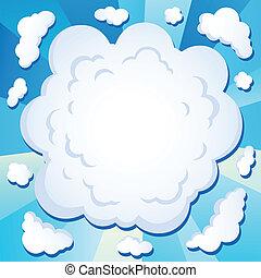cômico, 1, tema, imagem, nuvem