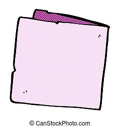 cômico, caricatura, cartão, em branco