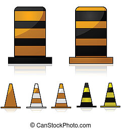 cônes trafic