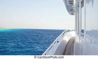 côté, bateau, vue