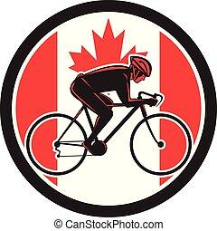 côté, circ-can-flag-icon, cycliste