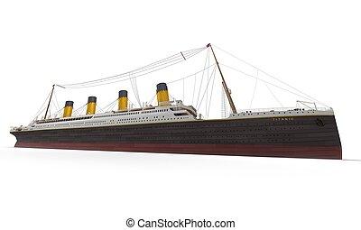 côté, titanic, vue