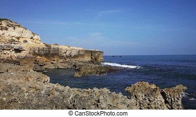 côte, atlantique, rocheux, portugal, océan