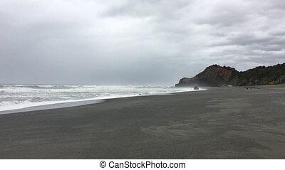 côte, pacifique, rochers, californie, eau douce, plage