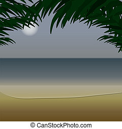 côte, vue océan