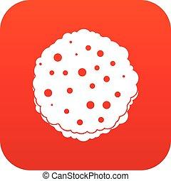 côtelettes, icône, rouges, numérique