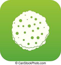 côtelettes, icône, vert, numérique