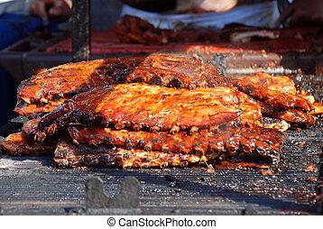côtes, barbecue