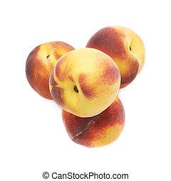 cölöp, elszigetelt, őszibarack, gyümölcs