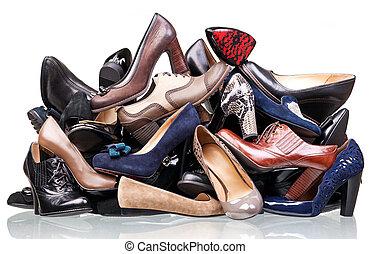 cölöp, különféle, cipők, női