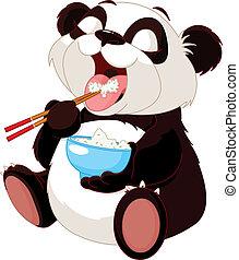 CÙte, arroz, comer,  Panda