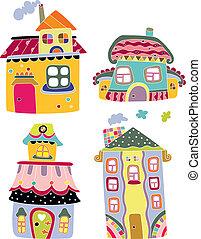 CÙte, coloridos, casas
