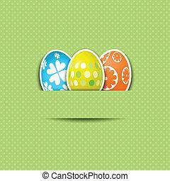 CÙte, pasqua, uovo, fondo