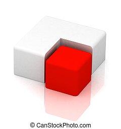 cúbico, pastel, tridimensional