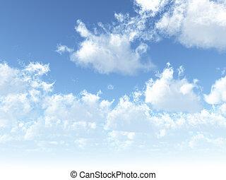 cúmulo, nubes blancas