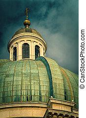 cúpula, de, catedral