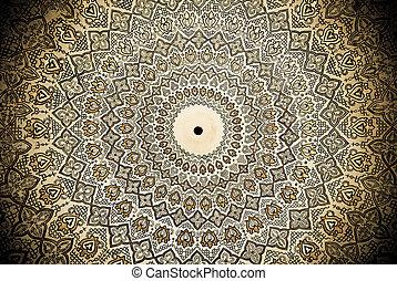 cúpula, uzbekistan, samarkand, mesquita, ornamentos,...