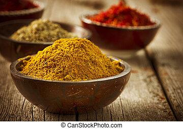 cúrcuma, especias, curry, azafrán